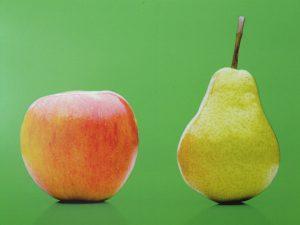 Bei der Typendiät unterscheidet die Wissenschaft den Körperbau in einen apfelförmigen männlichen und einen weiblichen birnenförmigen. Dabei kann der birnenförmige schneller und leichter abnehmen als der apfelförmige.