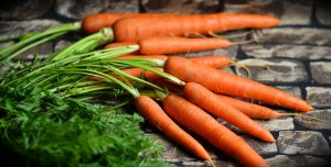 Fettlösliche Vitamine wie das Vitamin A sind für den Körper wichtig. Möhren enthalten viel Vitamin A und sind gut für gesunde Augen.
