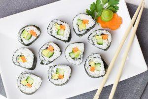Lieber Sushi als Burger und Pommes.