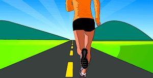 Auch auf Bewegung sollte man bei der Diät achten, um mehr Kalorien umzusetzen.