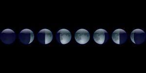 Monddiät, abnehmen nach den Mondphasen, auf Englisch lunar phase, soll bei Neumond besonders leicht sein.