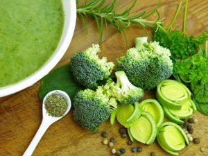 Auch Models essen viel Gemüse für eine schlanke Linie.