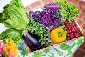 Ein Salat sollte möglichst bunt sein und verschiedene Nährstoffe enthalten durch Beilagen und Dressing.