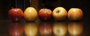 Äpfel sind reich an Antioxidantien.