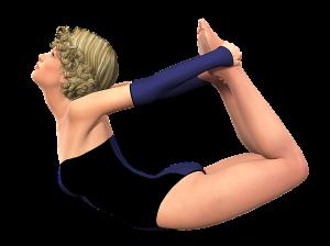 Yoga-Übung Bogen