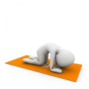 Die Yoga-Übung Katze