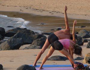 Yoga-Übung Dreieck