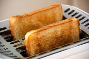 Während der Diät gibt es häufig Toast zum Frühstück.
