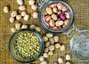 Hülsenfrüchte liefern auch bei Krafttraining genügend Proteine für Muskelaufbau.