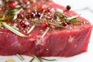 L-Carnitin kommt im dunklen Fleisch wie vom Rind vor.